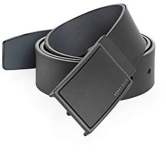 Perry Ellis Reversible Plaque Buckle Leather Belt