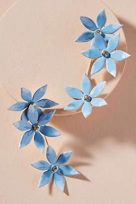 Anthropologie Plumeria Bouquet Drop Earrings