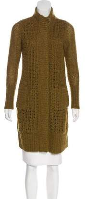 Magaschoni Mohair & Wool-Blend Longline Cardigan