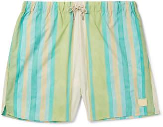 Acne Studios Perry Mid-Length Striped Swim Shorts