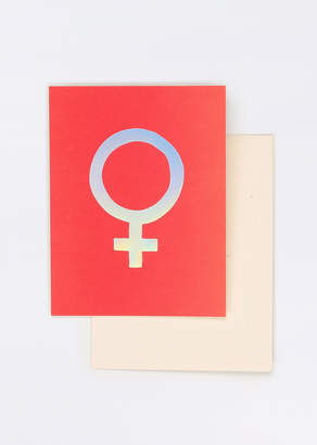 Seltzer Goods Holographic Note Card Set - Holographic Note Card Set - RED - OS