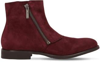Etro Zip-Up Suede Ankle Boots