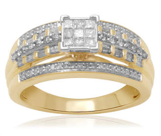 MODERN BRIDE 1/2 CT. T.W. Diamond 10K Two-Tone Engagement Ring
