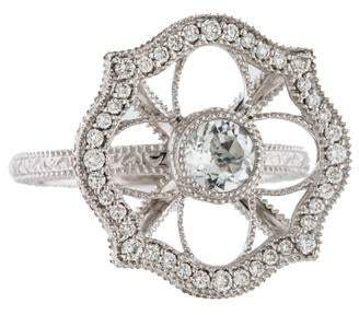 Jude Frances 18K White Topaz & Diamond Ring