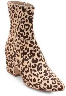 Matisse At Ease Leopard Print Calf Hair Booties