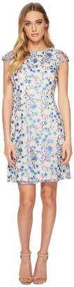 Adrianna Papell Floral Vines A-Line Dress Women's Dress