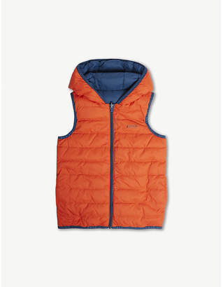 BOSS Reversible logo gilet 8 years