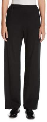 eskandar Flat-Front Straight-Leg Wool-Blend Trousers