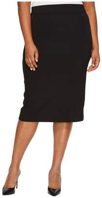 Bobeau B Collection by Plus Size Ollie Ponte Pencil Skirt Women's Skirt