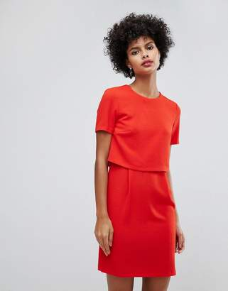 Warehouse Double Layer Shift Dress