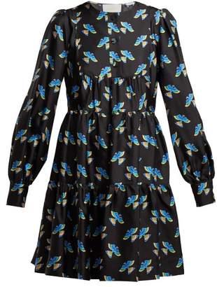 La DoubleJ Peasant Mini Dress - Womens - Black Print