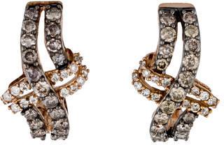 Le Vian 14K Brown & White Diamond Earrings $1,095 thestylecure.com