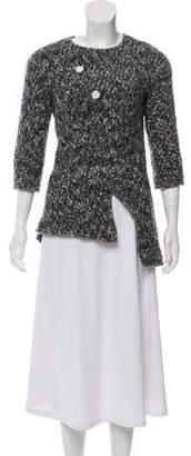 Celine Tweed Three-Quarter Sleeve Top