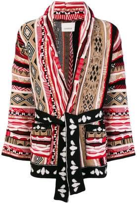 Laneus intarsia-knit cardigan
