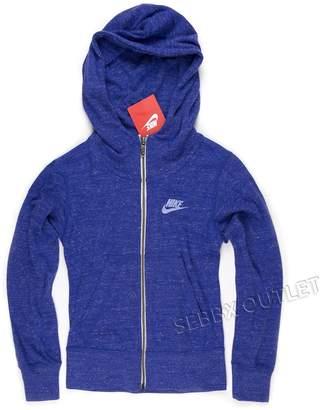 Nike Girl's Sportswear Gym Vintage Full Zip Hoodie