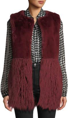 Love Token Faux-Fur Vest with Shag Hem