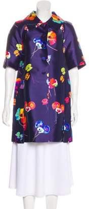 Marc Jacobs Silk Floral Coat