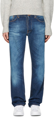 Nudie Jeans Indigo Loose Leif Jeans $220 thestylecure.com