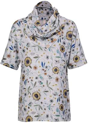 Dorothy Perkins Womens *Grey Forest Tunic Top
