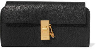 Chloé Textured-leather Continental Wallet - Black