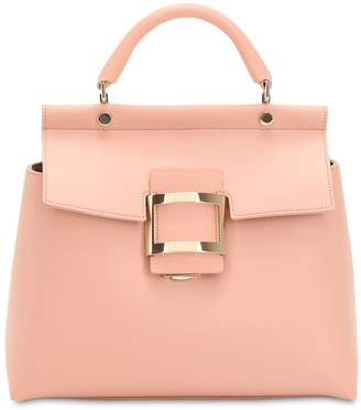 Roger Vivier Viv' Leather Top Handle Bag