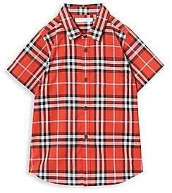 Burberry Little Boy's & Boy's Fred Short-Sleeve Woven Plaid Shirt