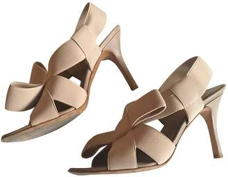 Twin-Set Twin Set Beige Cloth Sandals