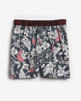Express Tropical Floral Exposed Waistband Woven Boxers