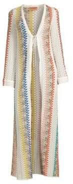 Missoni Mare Long Open Front Striped Caftan