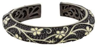 MCL by Matthew Campbell Laurenza Onyx & Enamel Floral Cuff