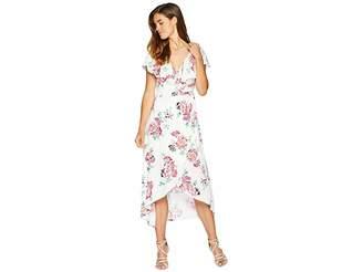 MinkPink Pretty Petals Wrap Front Dress Women's Dress