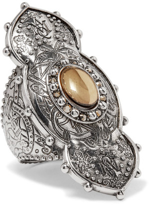 Alexander McQueen - Engraved Silver-tone Ring - 15 $275 thestylecure.com