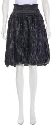 Fendi High-Waist Knee-Length Skirt