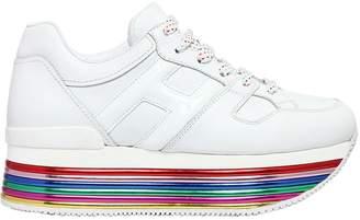 Hogan 70mm Maxi 222 Mignon Leather Sneakers