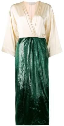 L'Autre Chose sheen wrap skirt