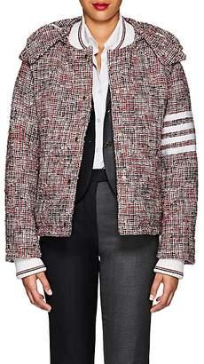 Thom Browne Women's Down Wool-Blend Tweed Puffer Coat - Red