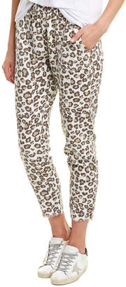 Monrow Leopard Fray Sweatpant