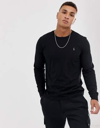 434eb6356823 Mens Black Long Sleeve Ralph Lauren Polo Shirt - ShopStyle UK