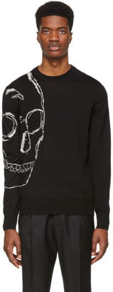 Alexander McQueen Black and Ivory Skull Sweater