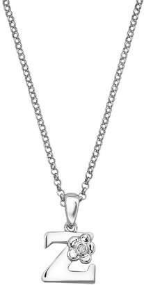 Little Diva Diamonds Sterling Silver Diamond Accent Initial Pendant - Kids