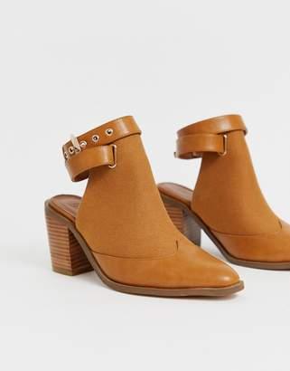 Asos Design DESIGN Ripley western shoe boots in tan