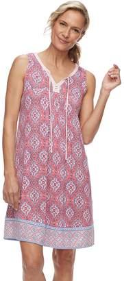 Croft & Barrow Women's Printed Sleeveless Nightgown