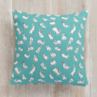 Bun Bun Fun Square Pillow