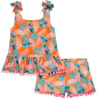 Very Girls Tropical Pom Pom Top & Short Outfit