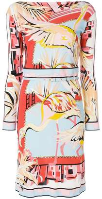 Emilio Pucci printed belted dress
