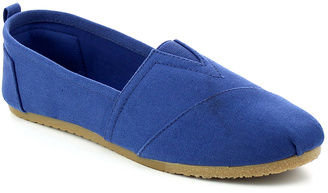 Navy Nina Canvas Slip-On Shoe $25.99 thestylecure.com