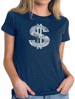 LOS ANGELES POP ART Los Angeles Pop Art Women's Premium Blend Word ArtT-shirt - Dollar Sign