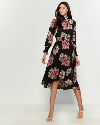 Nanette Lepore Nanette Stevie Floral Midi Dress