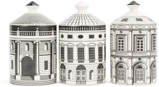 Fornasetti 'Ordine Architettonico' candle set