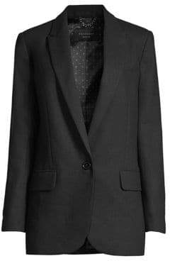 Equipment James One-Button Wool Blazer